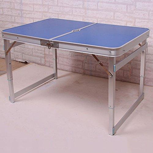 LVZAIXI Jardin extérieur en Aluminium Portable Pliant Camping Pique-Nique Partie Champ Cuisine Barbecue Table (Couleur : Bleu)