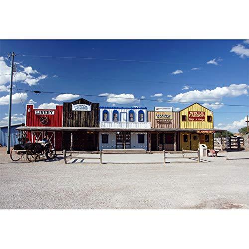 iew Hintergrund Western Holzhaus Telefonmast Zaun Wagen Fotografie Hintergrund Party Menschen Porträt Party Banner Dekor Produkt Requisiten ()