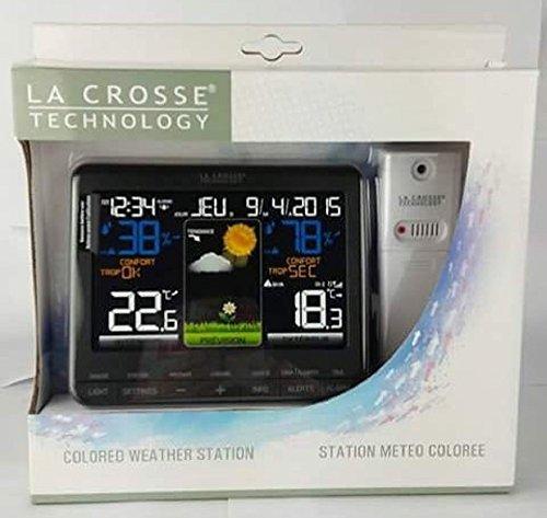 5182heD34-L [Bon Plan Netatmo] La Crosse Technology - WS6825 - Station météo colorée - Noir