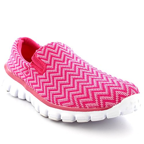 Womens Walking Super Lightweight Gym Sports Running Shoes Shock Absorbing Trainers -...