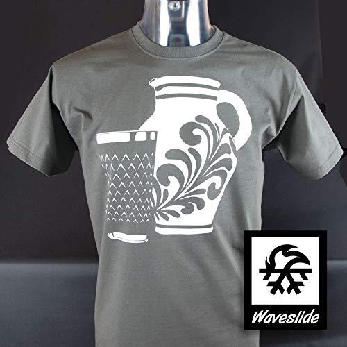 T-Shirt Apfelwein, Bembel, Geripptes, Hessisch, Ebbelwoi, Illustration von Waveslide