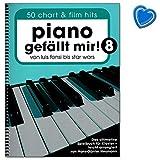 Piano séduit mignon ! Livre de musique pour piano - 50 titres actuels et chansons de film - Livre de partitions avec pince à partitions multicolores - BO7925 9783954561902