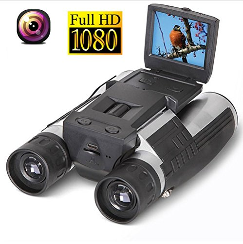 RDJM 2 '' FHD Digitalkamera Fernglas, 12X32 5MP Video Recorder Camcorder - LCD HD 1080P Display Teleskop Zum Beobachten, Jagen Und Spyin