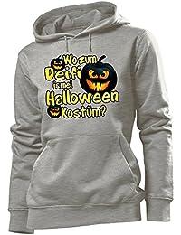 Halloween - Wo zum deifi is mei halloween kostüm! - Cooler Comedy Damen Kapuzenpullover S-XL - Deluxe