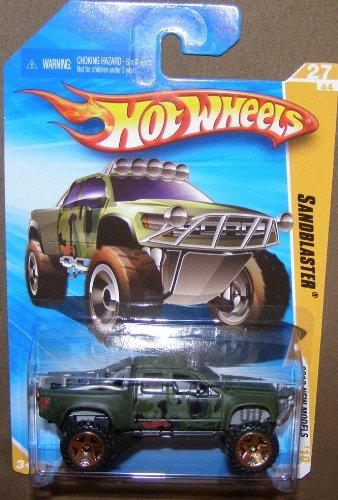 2010 HOT WHEELS NEW MODELS 27/44 GREEN SANDBLASTER 237/240 (Sandblaster Hot Wheels)
