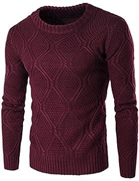 Tejidos de lana de jóvenes varones o de manga larga de cuello delgado suéteres tejidos Pulllvers Tops