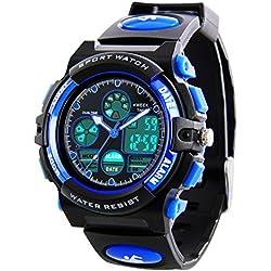 Reloj deportivo– impermeable Deporte Reloj con alarma Cronómetro, LED reloj de pulsera analógico