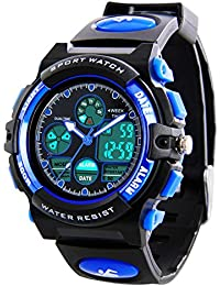 Kids Digital Sports Watches - Boys Waterproof Sport Watch with Alarm Stopwatch, LED Analogue Wrist Watch with Chronograph, Alarm for Childrens by YESURE