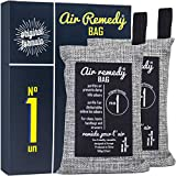 Air Remedy Bag Aktivkohle aus Bambus Luftreiniger, Auto Entfeuchter und Raum Lufterfrischer - 2x100g Beutel...