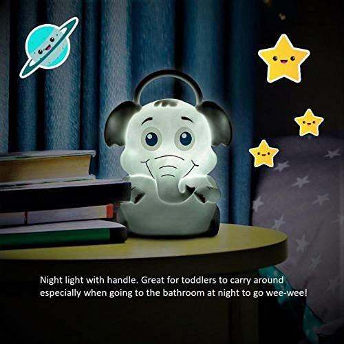 Tragbares Elefanten-LED-Nachtlicht mit Griff ** Kinder können im Haus herumtragen - Dekorationen Grauer Baby Elefant