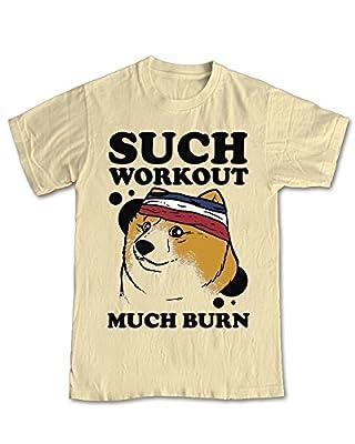 Shaw Tshirts® Doge Meme Such Workout Much Burn Funny Gym T-Shirt