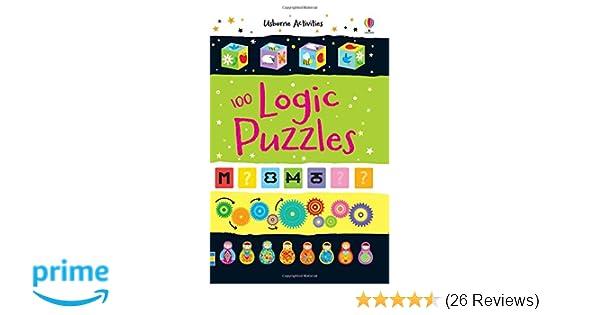 100 Logic Puzzles Usborne Puzzle Book Activity and Puzzle