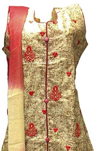 CSK136 Rosso e Panna Salwar Kameez Indian Bollywood Salwar Suit Red