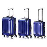 LDUDU ® Valigia Ligida Trolley Valigia Valigia con Ruote, 67 cm, 62 Litri, 4 Ruote, Blu reale
