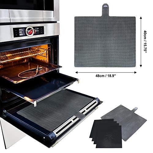 2 X universale Forno Fornello ricambio in teflon antiaderente Forno Liner TAPPETINO DI COTTURA