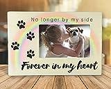Banberry Designs Gedenktafel für Haustiere Rahmen–Nicht Mehr by My Side Forever in My Heart–10,2x 15,2cm Bilderrahmen für Ein Hund oder Eine Katze