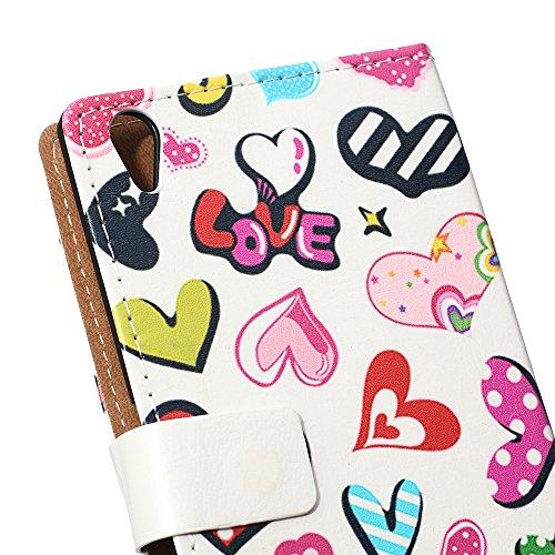 Voguecase® Pour Apple iPhone 6/6s 4,7 Coque, Etui Housse Cuir Portefeuille Case Cover (dream/plume 01)de Gratuit stylet l'écran aléatoire universelle coeur coloré 02