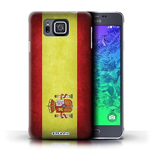 Kobalt® Imprimé Etui / Coque pour Samsung Galaxy Alpha / Algérie conception / Série Drapeau Espagne/espagnol