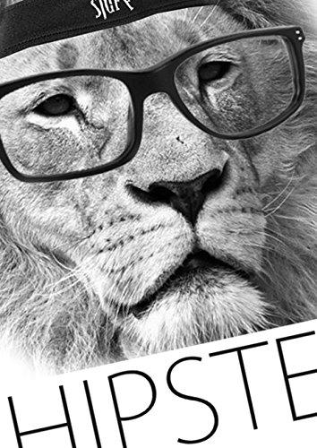 HIPSTER LION - Weiss - Styled by Fulima-Stuff Herren Shirt Weiß