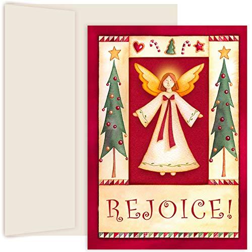 Masterpiece Hollyville Weihnachtskarten in Andenkenbox, 18 Stück Folk Angel 5.625 x 7.875