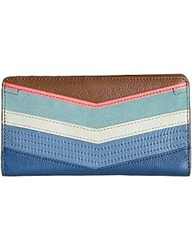 FOSSIL GELDBÖRSE - Caroline - Slim Bifold Wallet - Bright Stripe