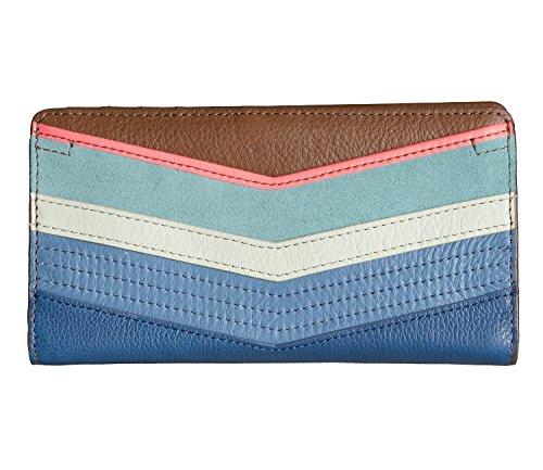 FOSSIL GELDBÖRSE - Caroline - Slim Bifold Wallet - Bright Stripe (Bi-fold Wallet-geldbörse)