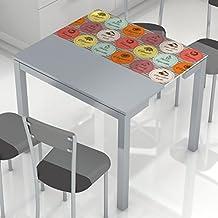Amazon.es: mesa cocina cristal templado extensible