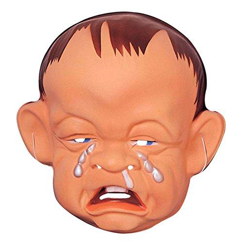 Weinende Babymaske Baby Maske Hartplastik Charakter Gesicht traurig Bockiges Kind Faschingsmaske Plastikmaske JGA Babies Karnevalsmaske Säugling