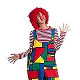 Kostümplanet Clown Perücke rot Wolltünnes Einheitsgröße Erwachsene