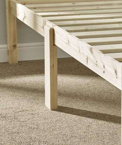 Super Kingsize 6ft HEAVY DUTY Wooden Frame with extra wide base slats and centre rail - VERY STRONG