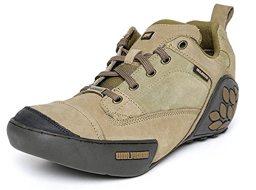 Woodland ProPlanet Men Khaki Solid Nubuck Leather Mid-Top Derbys Casual Shoes