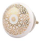IndianShelf 2 Piece Handmade Ceramic Knobs (6 Month Replacement Warranty) Golden Drawer Dresser Pulls Cabinet Handles Door Online