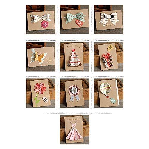 t für Geburtstagskarten/Party-Einladungen mit Umschlag, 12 Stück ()
