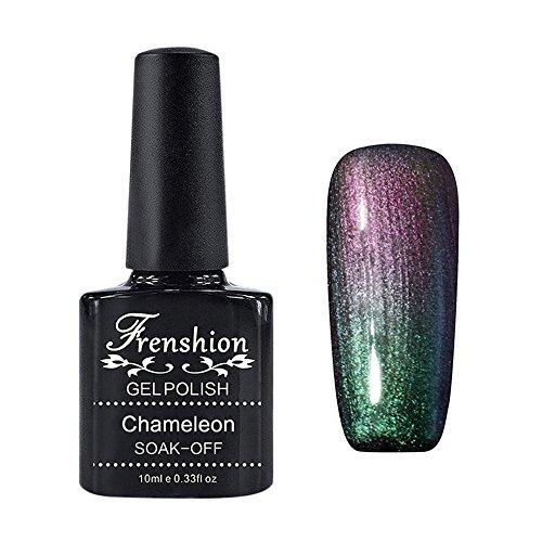 Frenshion 10ML Smalto Semipermanente Camaleonte Gel Nail Polish Stellato UV LED Ricostruzione Unghie Arte Galaxy 18
