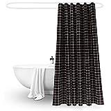 Yulian Duschvorhänge Badezimmer Duschvorhang Dick Wasserdicht und Schimmel Abdeckung Vorhang Dusche Intervall Vorhang (Breite * Höhe) Hochwertige Duschvorhänge (größe : 220 * 200cm)