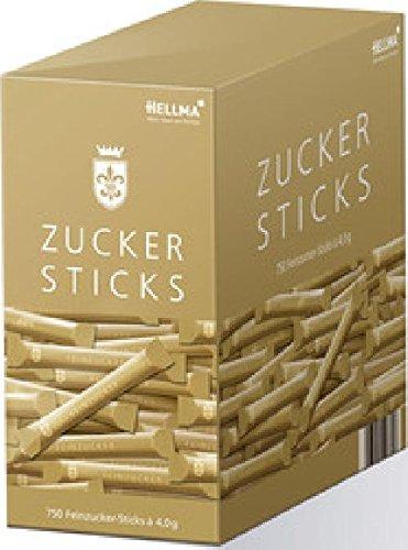 Hellma Zuckersticks Goldlinie 750x4,5g Feinzucker