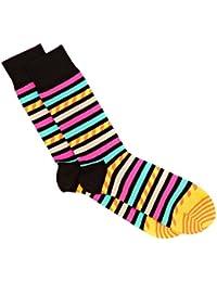 Hommes et Dames 1 paire Happy Socks Stripe sur Stripe coton peigné Chaussettes