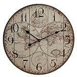 Windsor 60 cm reloj de pared diseño de mapamundi, Basilia