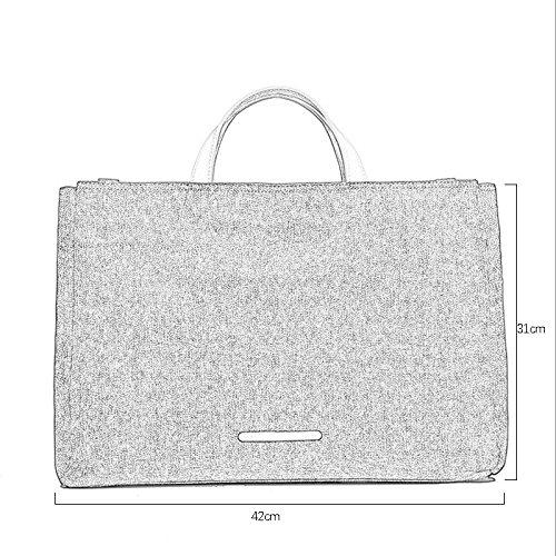 JJC321 Männer Polyester Stoff Aktentasche Messenger Bag Laptoptasche, Business Aktentaschen Taschen Modische Pendeln Umhängetaschen Männer Umhängetaschen ( Farbe : Schwarz ) Grau