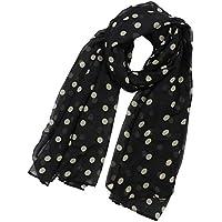 cb963813347b Maltonyo17 Mode Femme Polka Dot Imprimé en mousseline de soie Écharpe  longues écharpes ...