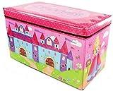 Kids Childrens Large Storage Toy Box Boys Girls Books Chest Clothes Seat Stool Shopmonk
