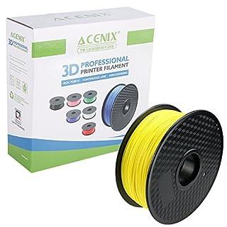 ACENIX® 3D Filament fluoreszierende gelbe PLA für 3D Drucker, 1.75mm 1KG [2.2 LBS] Spool 3D Filament für 3D Pens & 3D Drucker