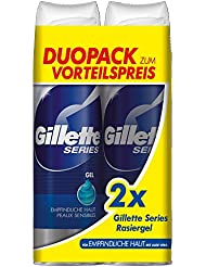 Gillette Series Ensemble de 2 Gels Sensibles de Rasage 400 ml