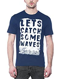 Maniac Mens Half Sleeve Navy Printed Cotton Tshirt