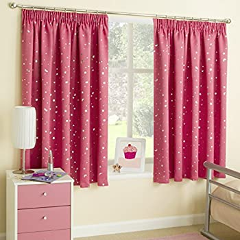 Princess Childrens Blackout Thermal Pencil Pleat Curtains ...