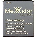 PolarCell Batería para Galaxy Ace 2, Galaxy S Duos, Galaxy S3 mini, GT-i8190, GT-I8160, GT-I8160P, GT-S7562 (1700mAh / 6,3Wh) EB425161LU + Mini-trapo de microfibra