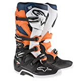 Alpinestars Tech 7 Enduro - Botas de motocross (14 unidades), color naranja y azul