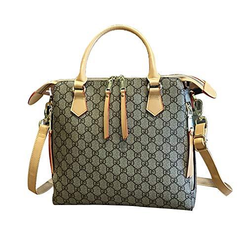 Mueka Handtasche Damen,Marken Handtaschen Damen,Shopper Taschen,Wasserdichte Ledertasche Mit Großem Fassungsvermögen, Umweltfreundliches PVC (gelb/Schwarz)