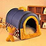ACTNOW Pet house 2-in-1 and Classic Portable Washable Sofa Non-Slip Dog Cat Cave House Beds with Removable Cushion Warm… 16
