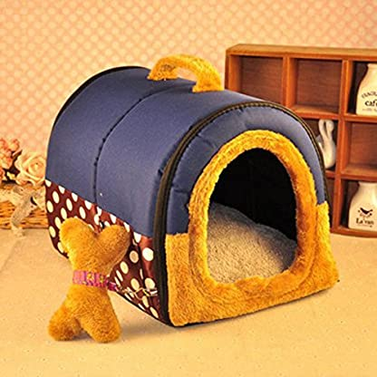 ACTNOW Pet house 2-in-1 and Classic Portable Washable Sofa Non-Slip Dog Cat Cave House Beds with Removable Cushion Warm… 5
